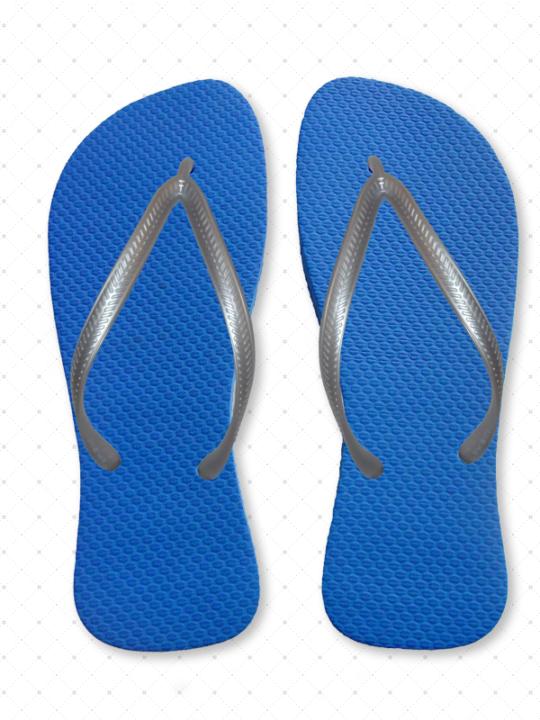 Silver Slim Flip-Flops