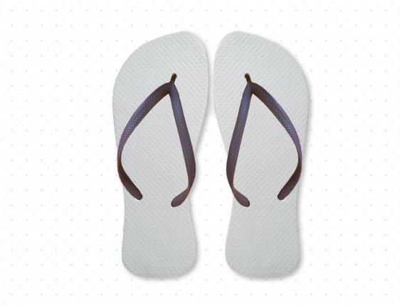 Black/White Flip-Flops
