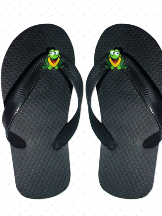 Black Wholesale Flip-Flops