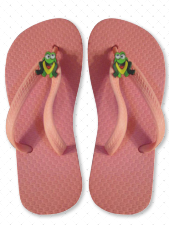 Pink wholesale flip-flops