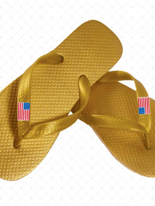 USA Gold Flip-Flop
