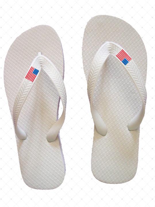 USA White Flip-Flop