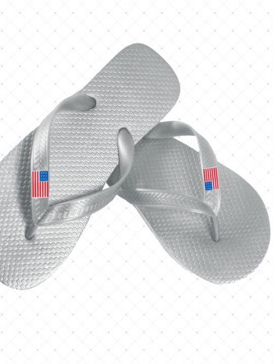 USA Flip-Flop Silver