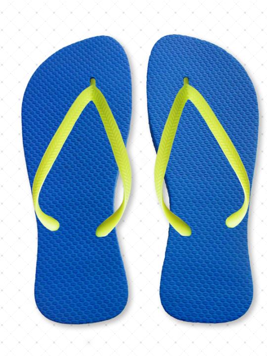Neon Yellow Flip-Flops
