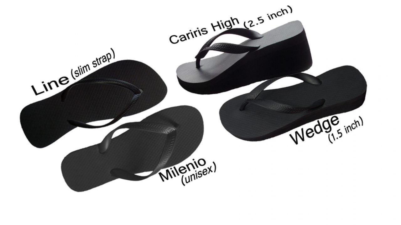 Black Flip-Flops  100 Rubber  Wholesale Flip-Flops-4399